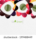 green eco unusual background... | Shutterstock .eps vector #199488449