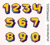 numbers set in cubic children... | Shutterstock .eps vector #1994902631