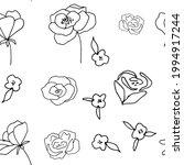 floral vector seamless pattern... | Shutterstock .eps vector #1994917244
