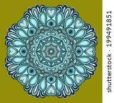 round symmetrical pattern in... | Shutterstock .eps vector #199491851