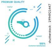 whistle icon vector...   Shutterstock .eps vector #1994921447