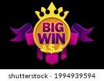 big win with purple ribbon ...