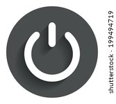 power sign icon. switch on...