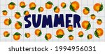 summer sale banner with fruits...   Shutterstock .eps vector #1994956031