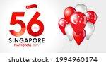 56 years anniversary singapore...   Shutterstock .eps vector #1994960174