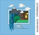 3d web vector illustrations....   Shutterstock .eps vector #1994986214