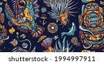 underwater world seamless... | Shutterstock .eps vector #1994997911