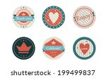 6 round vector party tags | Shutterstock .eps vector #199499837