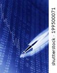 financial figures background in ... | Shutterstock . vector #199500071