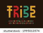 tribal style font  alphabet...   Shutterstock .eps vector #1995013574