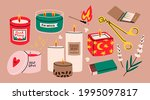 various candles. different...   Shutterstock .eps vector #1995097817