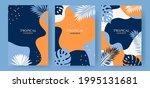set of abstract summer...   Shutterstock .eps vector #1995131681