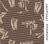brown floral tropical botanical ... | Shutterstock .eps vector #1995161597