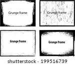 grunge frames. vector... | Shutterstock .eps vector #199516739