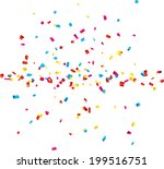 colorful celebration background ... | Shutterstock .eps vector #199516751