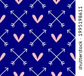 cute seamless pattern with... | Shutterstock .eps vector #1995198611