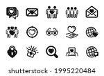 vector set of friends couple ... | Shutterstock .eps vector #1995220484
