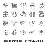 vector set of heart  marry me... | Shutterstock .eps vector #1995220511