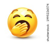 Yawning Emoji. Bored Or Sleepy...
