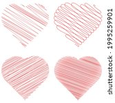 hearth shape with scribble ... | Shutterstock .eps vector #1995259901
