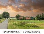 Dutch Polder Landscape During...