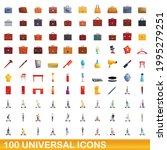 100 universal icons set.... | Shutterstock .eps vector #1995279251