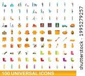 100 universal icons set.... | Shutterstock .eps vector #1995279257