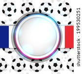 cover with a soccer ball and... | Shutterstock .eps vector #199530251