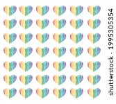 seamless vector pattern with... | Shutterstock .eps vector #1995305354