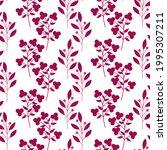seamless pattern pink plants...   Shutterstock .eps vector #1995307211