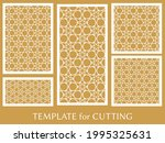 decorative panels set for laser ... | Shutterstock .eps vector #1995325631