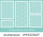 decorative panels set for laser ... | Shutterstock .eps vector #1995325637