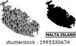 map of malta island for...   Shutterstock .eps vector #1995330674