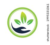 creative hand and leaf logo... | Shutterstock .eps vector #1995331061