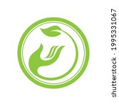 creative hand and leaf logo... | Shutterstock .eps vector #1995331067