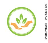 creative hand and leaf logo... | Shutterstock .eps vector #1995331121