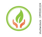 creative hand and leaf logo... | Shutterstock .eps vector #1995331124