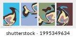 abstract 3d paper cut art....   Shutterstock .eps vector #1995349634