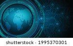 world binary circuit board...   Shutterstock .eps vector #1995370301