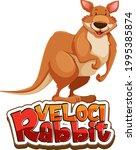kangaroo cartoon character with ...   Shutterstock .eps vector #1995385874