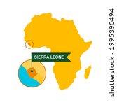 sierra leone on an africa s map ...   Shutterstock .eps vector #1995390494