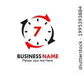 number 7 rotation logo template ...   Shutterstock .eps vector #1995393884