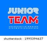vector colorful logo junior...   Shutterstock .eps vector #1995394637