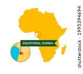 equatorial guinea on an africa...   Shutterstock .eps vector #1995394694