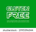 vector advertising badge gluten ...   Shutterstock .eps vector #1995396344