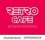 vector bright emblem retro cafe....   Shutterstock .eps vector #1995396524