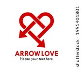 arrow love logo template...   Shutterstock .eps vector #1995401801
