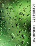 Abstract Water Droplets On The...