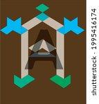 a letter logo   art logo   Shutterstock .eps vector #1995416174