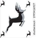 deer logo  art logo vector   Shutterstock .eps vector #1995416927